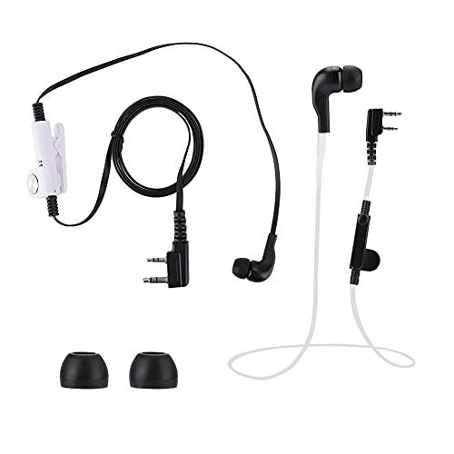 Xuzuyic Auriculares de Moda Estilo Noodle K, diseño ergonómico, Ddesign Estilo Noodle, Adecuado para Varios K-Head Walkie Talkie(Negro)