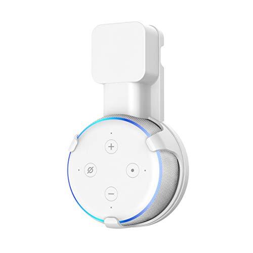 Soporte para Dot (3.ª generación) Cozycase, gestión de Cables incorporada sin Tornillos, Estuche Compacto en cocinas, baño y Dormitorio - Blanco