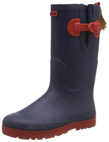 Aigle Unisex-Kinder Woody Pop Iso Gummistiefel, Mehrfarbig (Indigo/Rouge 001), 33 EU