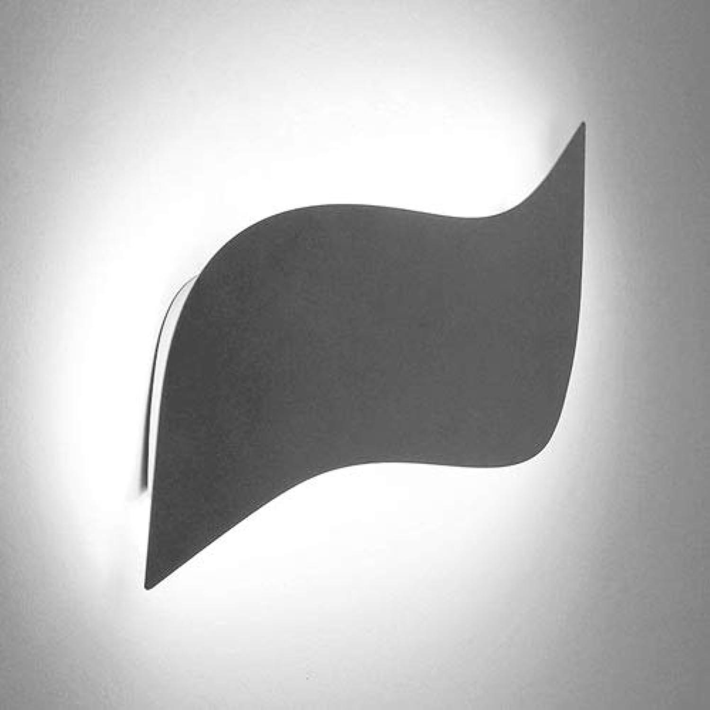 BEDKING Led Arc Geometric Wandleuchte Studie Taschenlampe Hintergrund Wanddekoration Wandleuchte Flur Küche Schlafzimmer Nachttischlampe Restaurant Einfache Wandleuchte (Farbe   schwarz-Weiß light)