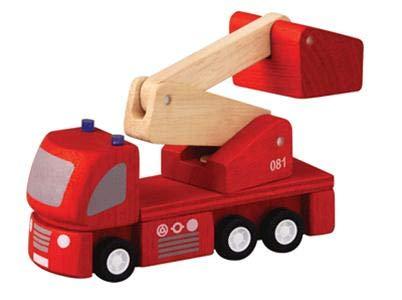 PlanToys - PT6234 - Jouet en bois - Véhicule - Camion de Pompiers