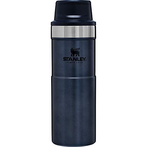 Stanley Classic Trigger Action Travel Mug 0.47L / 16OZ Nightfall – Lekvrij | Vacuüm geïsoleerde thee en koffie reismok | Roestvrijstalen thermosbeker houdt 7 uur warm | BPA-vrij | Vaatwasserbestendig