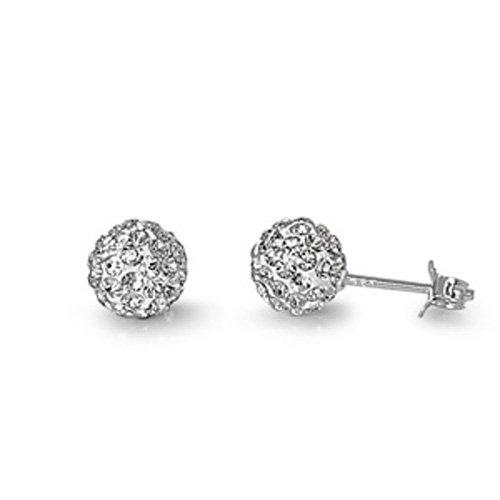 Pequeños tesoros sin níquel plata esterlina Pendientes de clara pendiente del perno prisionero de cristal de Swarovski