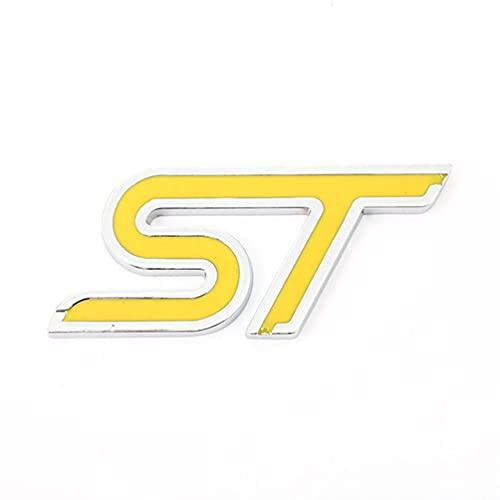 Für Ford ST Focus2 Focus3 Fiesta Ecosport Mondeo Fiesta Kuga MK2 MK3 MK4 Frontgrill Emblem Logo,Autozubehör Abzeichen Typenschild Auto Styling Bonnet Logo