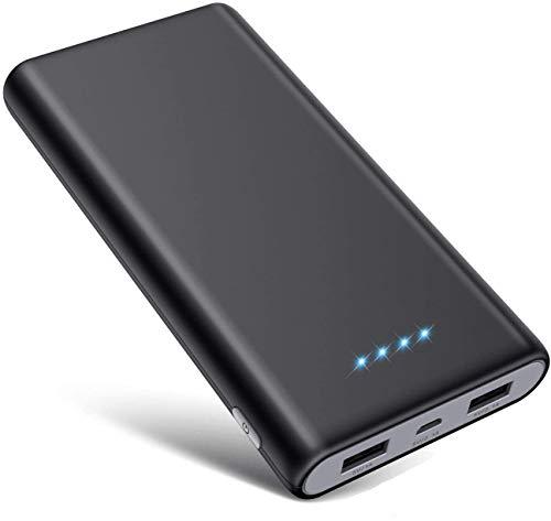 SWEYE Batería Externa 26800mAH Carga Rápida de Power Bank 2 USB Cargar y Luces LED [Ultra Capacidad]Cargador Movil Portátil Compacto con Múltiples Protecciones para Android Smartphones Tabletas, etc