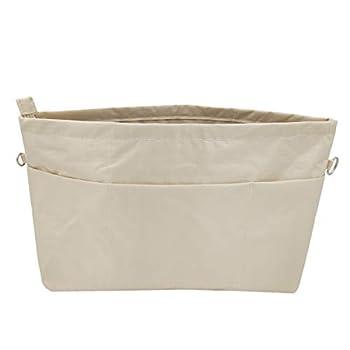Lrker Women s Purse Organizer Handbag Tote Insert Liner Divider Inside Bag X-Large Beige Lower