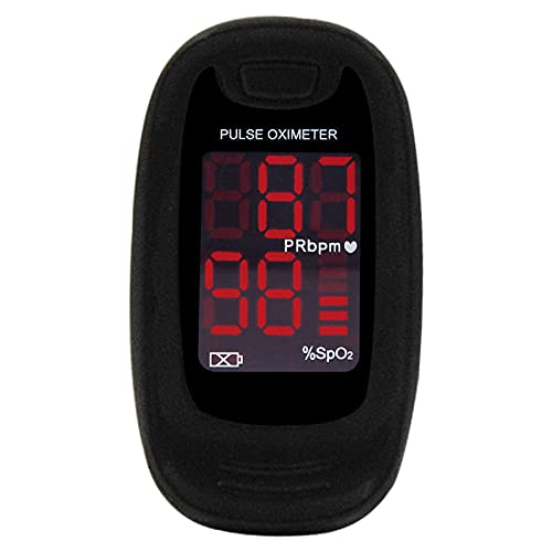 CONTEC MEDICAL SYSTEMS CMS50M Black Pulse Oximeter SpO2 and PR Value Waveform Blood Oxygen...