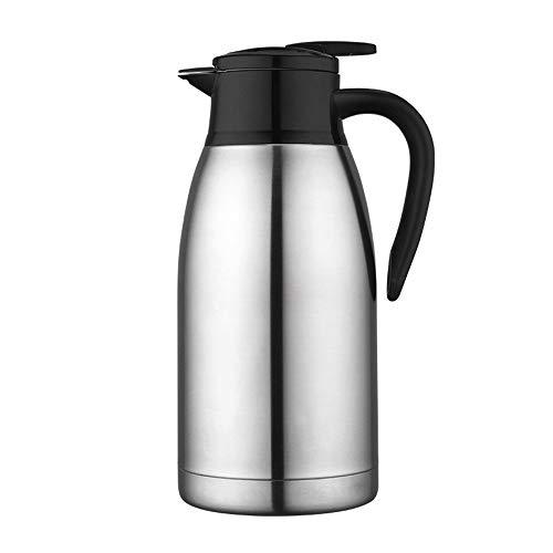 Koffie van het Roestvrij karaf Thermoskan Food-grade 304 Stainless Steel Double-Wall thermoskan Koffiepot Anti-Lekkage Anti-Splashing Juice Milk Tea Pot Insulation 2L Thermal Jug