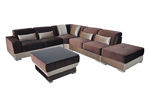JVmoebel Leder Eck Sofa Couch Polster Couchen Wohnlandschaft Luxus Garnitur Ecke Sofas