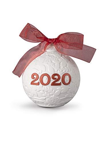 LLADRÓ 2020 Palla di Natale. Rosso. Palle di Natale di Porcellana.