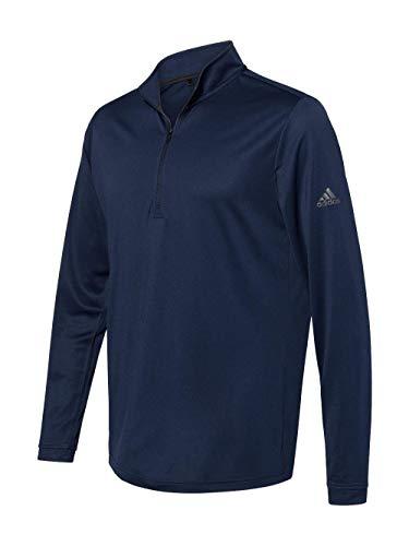 adidas Mens Lightweight Quarter-Zip Pullover (A401) -Collegiate -L