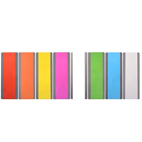 PAFUWEI 8 Pieces Large Reading Guide Strips Dyslexia Reading Strips with Coloured Overlays Colorful Highlight Strips Bookmark for Dyslexia Irlens ADHD and Visual Stress, 8 Colors
