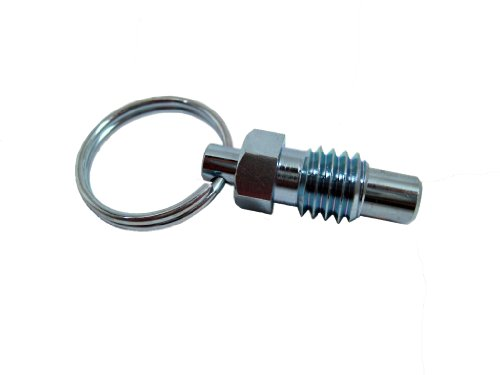 SPRP Series Steel Non Lock-Out Type Inch Size Stubby Hand Retractable Spring Plunger with Pull Ring, 5/8'-11 Thread Size, 0.69' Thread Length