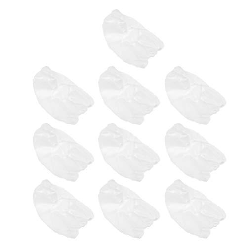 HEALLILY 20 Pcs Couverture de Tête Jetable Non Tissé Couverture de Tête Couverture de Visage Jetable Net Bouffant Casquettes pour Hôpital Salon Spa Cuisine Service Alimentaire