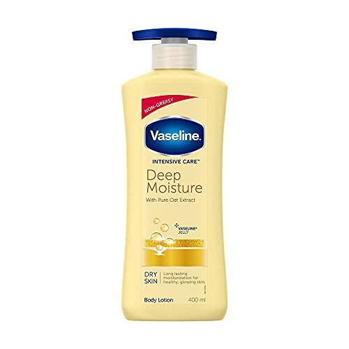 Vaseline Intensive Care Deep Moisture Body Lotion, Long Lasting Moisturisation For Healthy, Glowing Skin, 400 ml