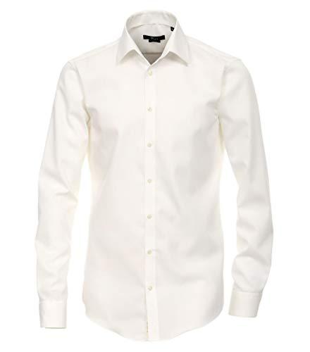 Michaelax-Fashion-Trade – Chemise formelle – Base – Classique – Manches Longues – pour Homme Beige Crème (002) 44