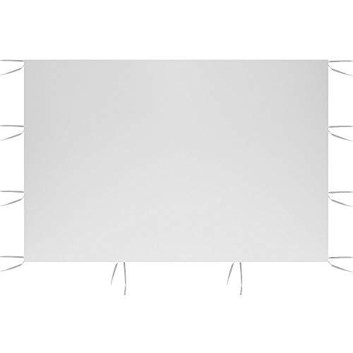 Maalr 3m x 2m Solo Pannelli Laterali del Baldacchino, Pannello Laterale del Gazebo della Tenda Superficie della Tenda Superiore in Tessuto Oxford 210D Impermeabile (Stile A, Bianca)