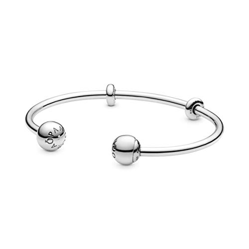 Pandora Jewelry Silver Open Bangle Sterling Silver Bracelet, 6.3