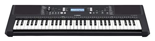 Yamaha PSR-E373 Teclado digital - Instrumento versátil con 61 teclas sensibles a la pulsación, teclado de iniciación con sonidos de instrumentos de calidad, en negro