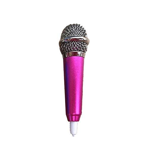 Tree-de-Life Mikrofon Tragbares Mini 3,5-mm-Stereo-Studio-Sprachmikrofon-Audiomikrofon für das Smart-Handy-Desktop-Zubehör - rosarot