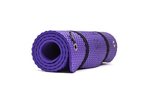 Bootymats - Colchoneta Fitness Multifunción para Todo Tipo de Entrenamiento: Fitness, Pilates, Abdominales, Estiramientos. Medidas: 160 x 60 cm. Grosor: 9 mm. Violeta