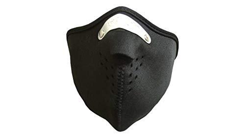 Motorrad Neopren Maske Schwarz mit Feinstaubfilter, Biker Mask black, Winddicht Staubdicht