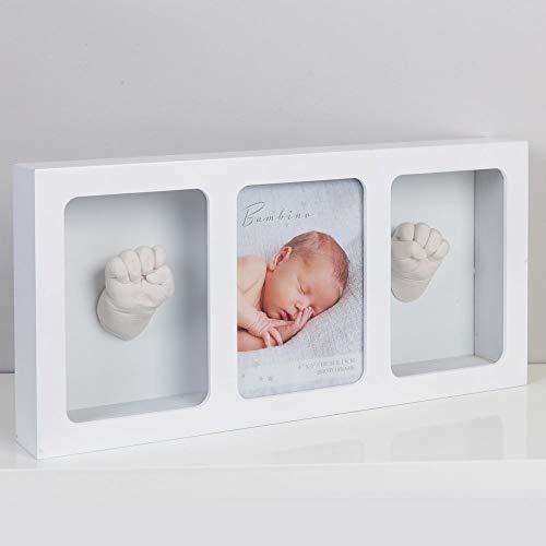 Bambino NEW BABY WHITE PHOTO FRAME & CASTING KIT - TRIPLE