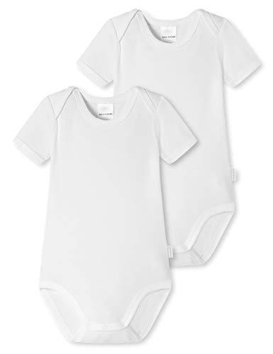 Schiesser Baby Kurzarm Bodies 2 Pack Conjunto de Ropa Interior para bebés y niños pequeños, Blanco, 4 años Unisex bebé