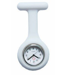 Boolavard ® TM Multi couleurs infirmière Fob de broche montre de tunique (Blanc)