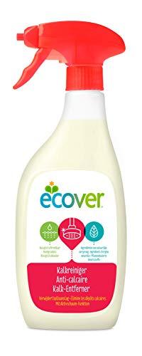 Ecover Kalkreiniger (500 ml), nachhaltige Sauberkeit mit pflanzenbasierten Inhaltsstoffen, kraftvoller Reiniger gegen Kalkablagerungen im Bad