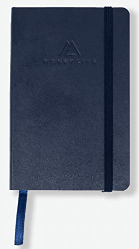 MoneyLine Sports Betting Notebook – 3.5 x 5.5in Sports Betting Notebook – Notebook to Track Bets – 100 Page Betting Notebook – Navy Blue Sports Betting Book for Football, Basketball, Baseball & More!