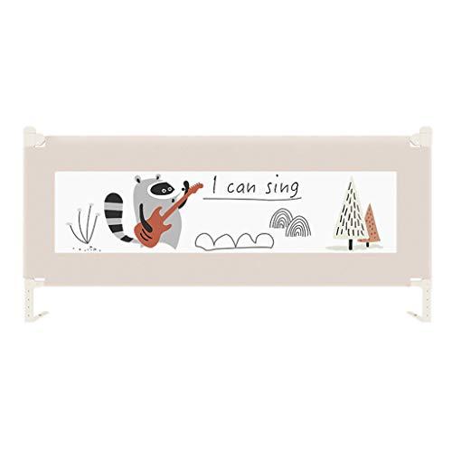 Bettschutzgitter 200cm Vertikallift for Kleinkinder Sicherheitsbettgitter Kinderbettgitter Extra langes Babybettgitter mit NBR-Schaum, verstärktes Ankersicherheitssystem em Bettgitter Höhe 71~95cm