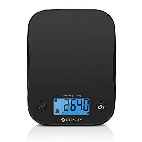Etekcity Food Kitchen Scale, Digital Weight Grams and Oz for Cooking, Baking, Meal Prep, and Diet, Medium, Black