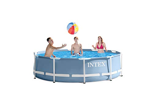 Intex–Poolumrandung Prisma Frame ohne Wasserbehandlung 366 x 76 blau