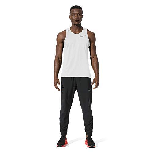 Nike M NK Dry Miler Tank Débardeur Homme White/Vast Grey/(Reflective Silv) FR : XL (Taille Fabricant : XL)