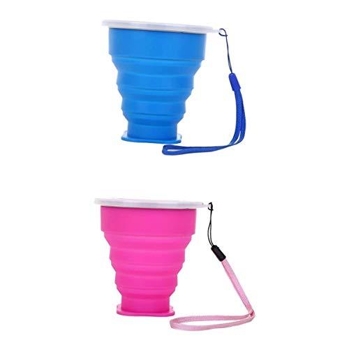 #N/A/a Paquete de 2 Tazas de Té de Silicona Plegables, Taza de Café, 300 Ml, Tazas de Agua, Congelador, Caja Fuerte