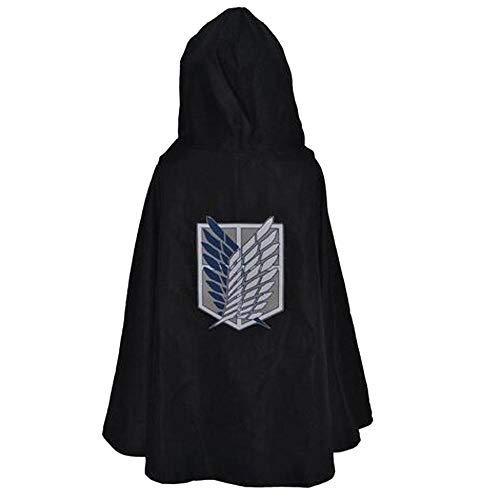 Ataque a los Titanes Disfraz Capa Verde Anime Cosplay Shingeki No Kyojin Sudadera con Capucha Eren Levi Mikasa Scout Legion Coat