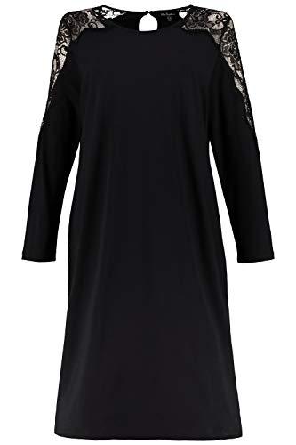 Ulla Popken Damen große Größen Nachthemd schwarz 54/56 719014 10-54+