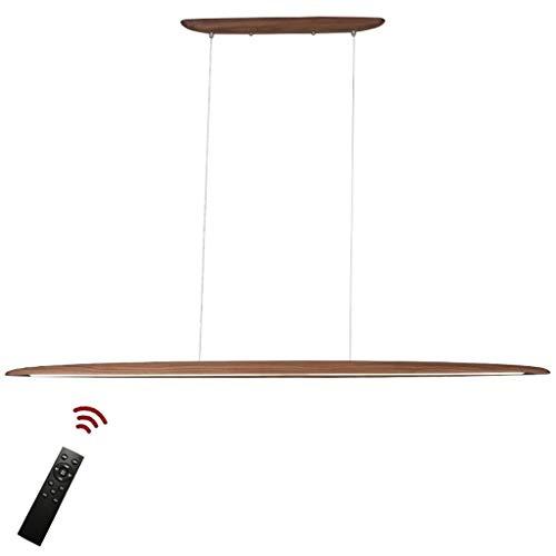 Modern Design Hängelampe LED Hängeleuchte aus Holz Pendellampe Dimmbar Pendelleuchten höhenverstellbar Kronleuchter Esszimmer Schlafzimmer Innenleuchte Dekorative Deckenleuchte 18W 3000K-6000K 130cm