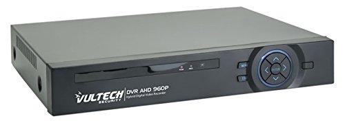 VulTech Security CM-960AHD4 DVR 4 Canali, Ibrido, Analogico, AHD, HD, Nero