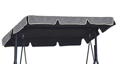 Ferocity Universal Sonnendach für Hollywoodschaukel Dach-Plane für Garten-Schaukel Dachplane Ersatzdach ca 200 x 120 cm Flachs [101]