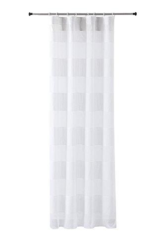READY Calpe Cortina con ollados, Tela, Blanco, 145x3x270 cm