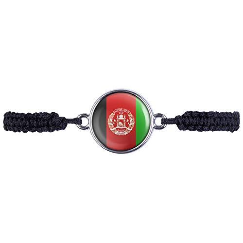 Mylery Armband mit Motiv Afghanistan Kabul Flagge Silber 16mm