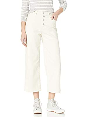 Levi's Women's Mile High Wide Leg Buttons Jeans, Defined Twill Birch, 31 (US 12) R