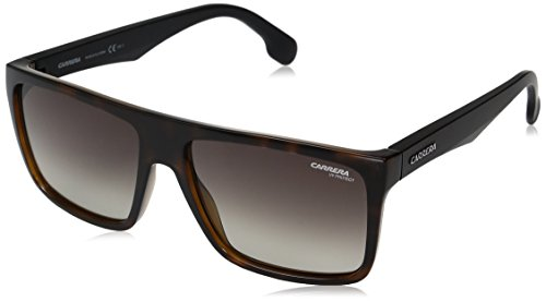 Carrera CA5039/S Rectangular Prescription Eyeglass Frames, HAVANA MATTE BLACK/BROWN GRADIENT, 58 mm