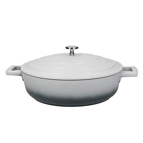 masterclass Shallow Casserole Dish with Lid, Aluminum, Grigio sfumato, 4 Litre / 28 cm