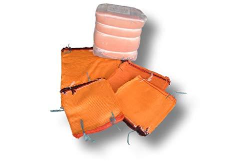 1 pack (100 unidades) 50 kg tamaño 60 x 100 cm patatas sacos Raschel sacos frutales verdura bolsas de red bolsas de cebolla sacos de madera sacos de leña sacos de tejido de...