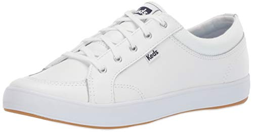 Keds womens Center Leather Sneaker, White, 9.5 US
