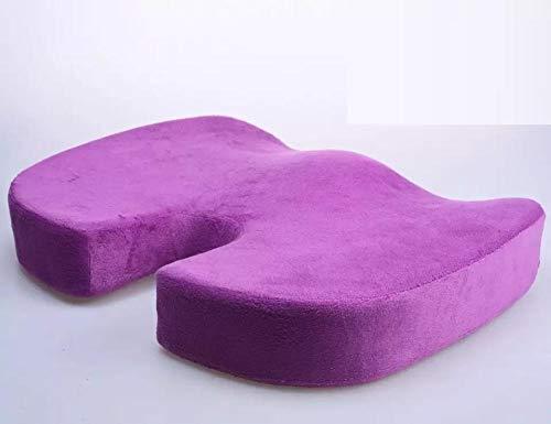 OHHCO Cojín Espacio De Memoria Colchón De Café Asiento De Coche del Color del Algodón Cojines (Color : Purple)