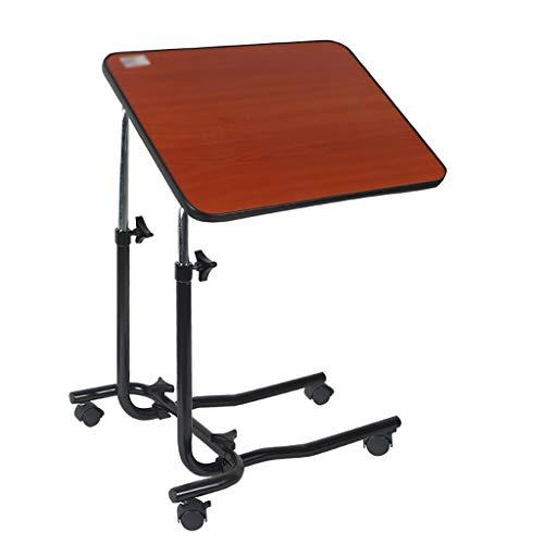 Onbekend draagbare bed-/stoeltafel – kantelbaar, verstelbaar en verrijdbaar, nachtkastje eenvoudige mobiele computertafel draagbare rol-eettafel voor de verzorging van de patiënt.